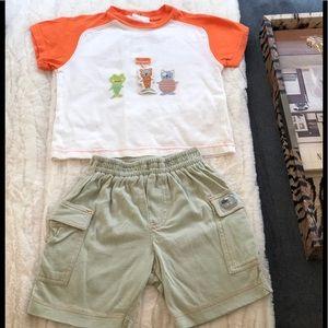 Catimini Infant Boys Shirt Set 6mos